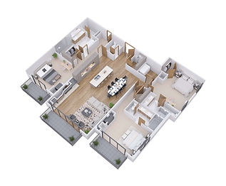 3D floor plans, dollhouse