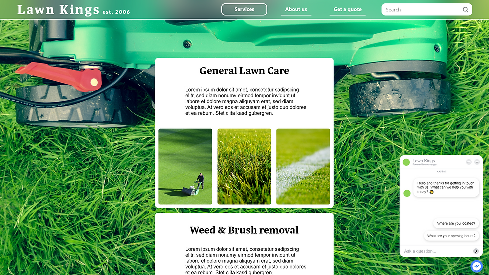 Design a website for a gardening busines
