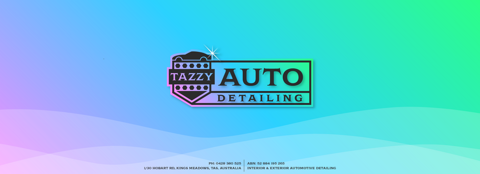 Tazzy Auto Detailing - Banner