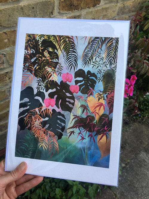 """Monstera"" Giclee print in A4 by Mary West"