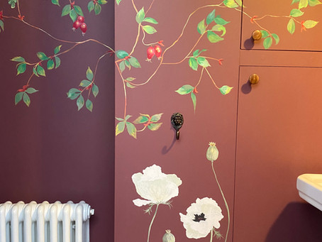 Why choosing a hand painted mural for your home is a brilliant alternative to wallpaper