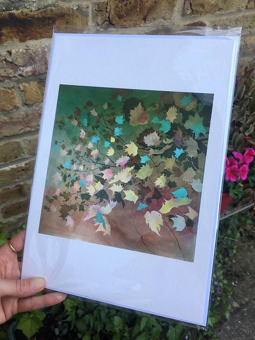 """""""Autumn leaves"""" Giclee print in A3 by Clara Wilkinson"""