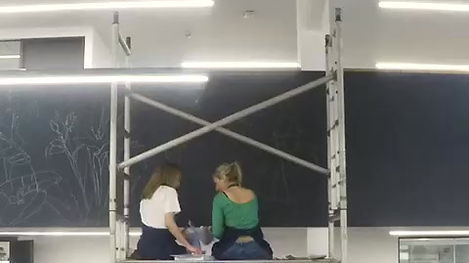 The making of a mural at Whisper