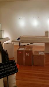 Packing Gower's work for return shipment.