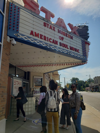 The Arts Interns outside of the Stax Museum.