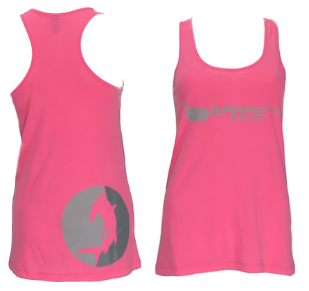 womens pink loose fit tank top