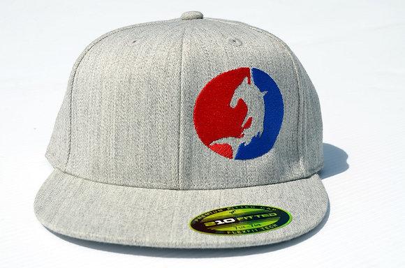 grey flat brim flex fit hammer head hat