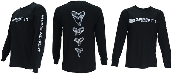 Dry fit performance long sleeve shirt tooth design
