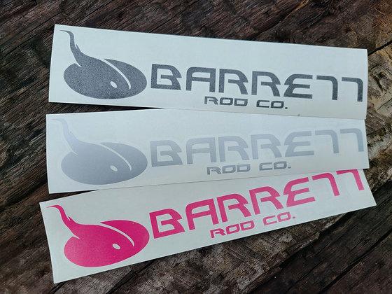 Vinyl cut Barrett logo decals
