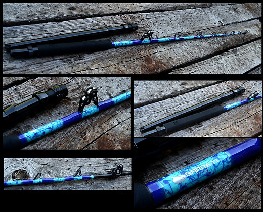 Marbled Blue 80-130lb 7' Stand Up Shark rod