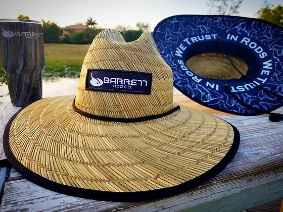 In rods we trust straw hat