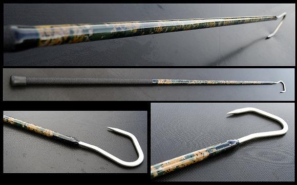"""6' digital woodland camo gaff with 3"""" winthrop hook"""