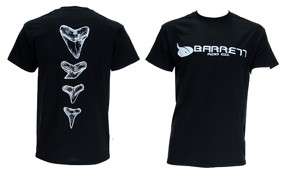 Short sleeve tee shirt tooth design black