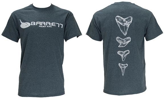 Grey short sleeve tee shirt tooth design