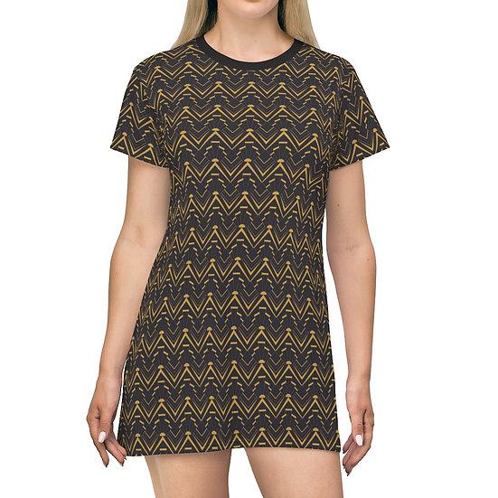 Women's Casual Print Dress - DECO GOLD