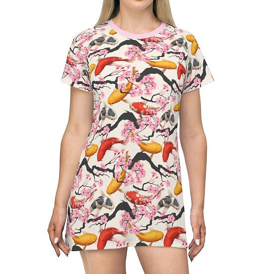 Women's Casual Print Dress - KOI CHERRY