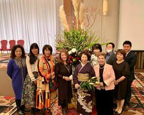 神戸ポートピアホテル「世界平和祈りの幕開け」にて家元達実践授業