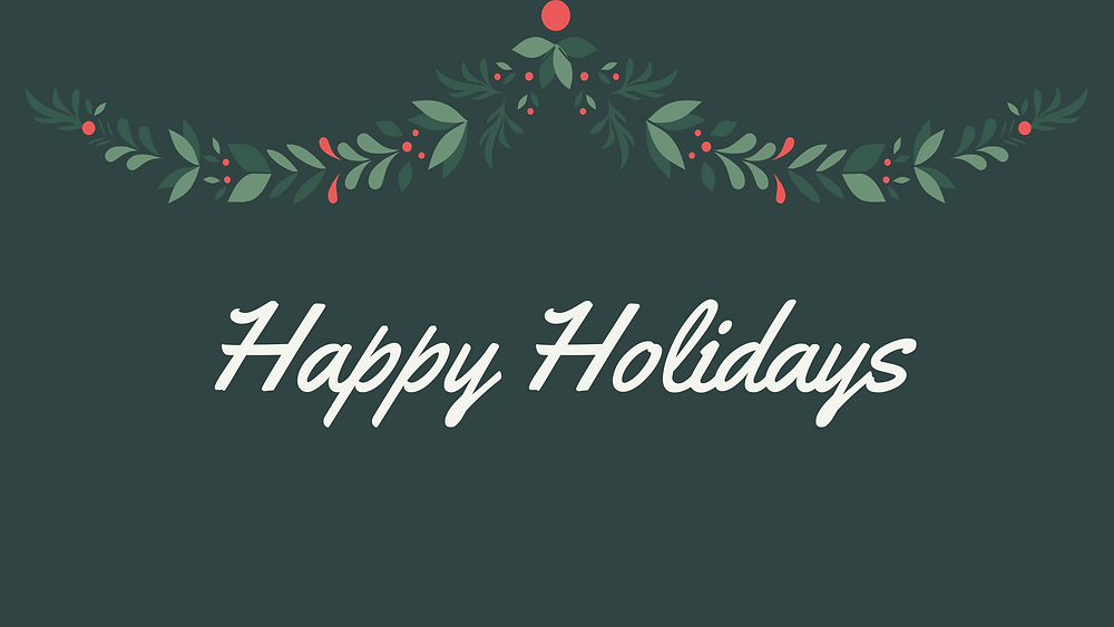 Happy Holidays - making 2020 holidays count
