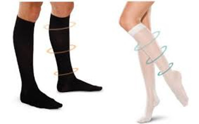 male and female modelin compression stockings
