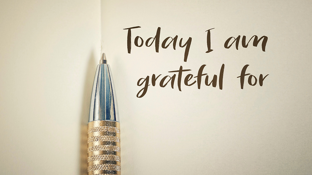 Words on page: Today I am grateful for...