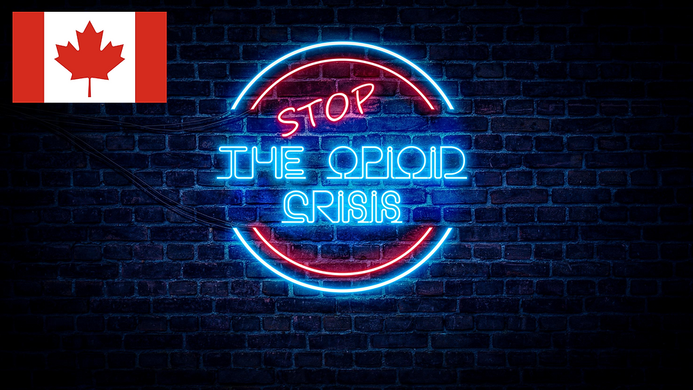 Neon light that reads Stop the opioid crisis