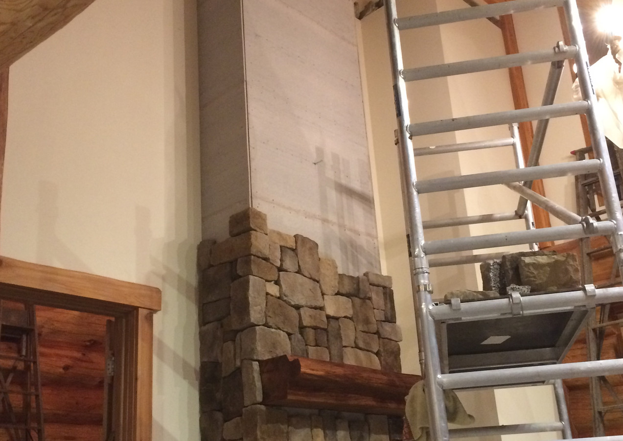Building the chimney breast