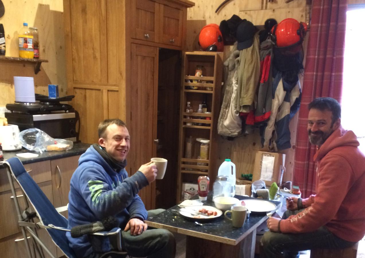 Tea break for the carpenters