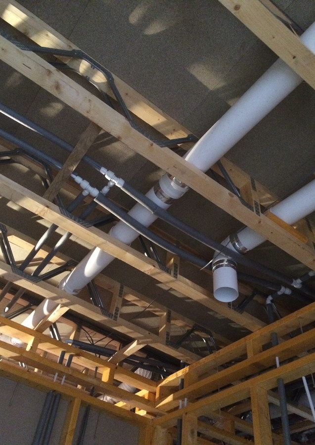 Services in the joists