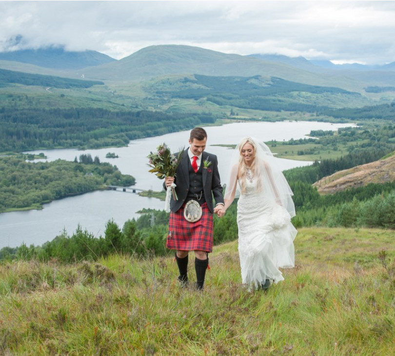 walking Glen Garry just married