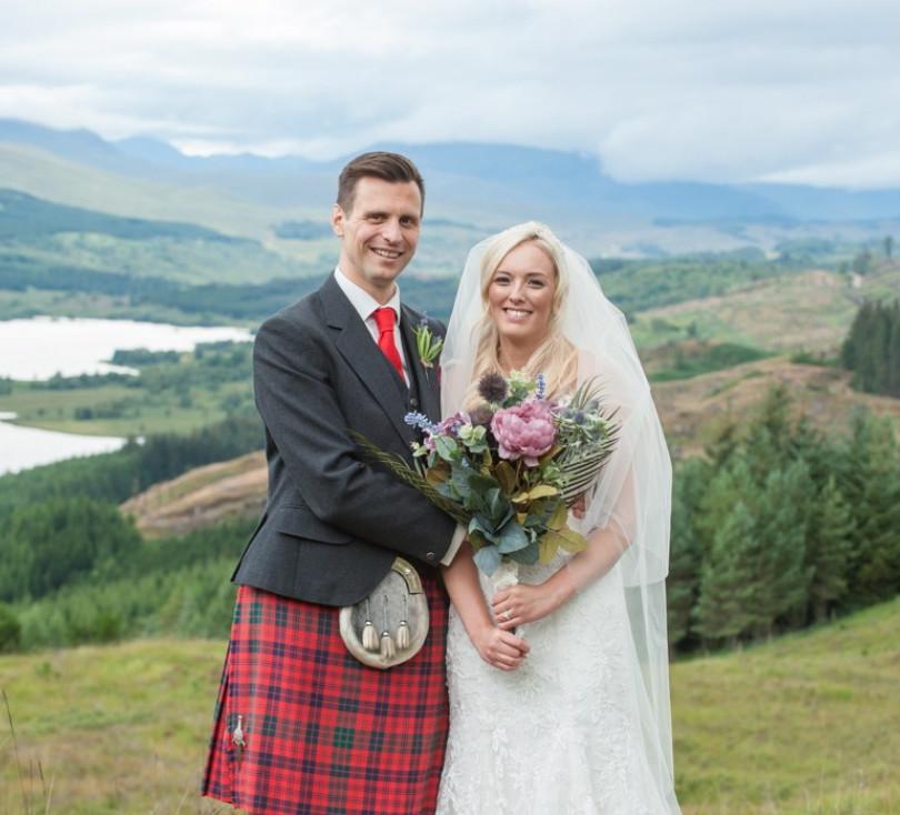 bouquet wedding kilt sporren