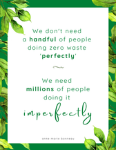 We don't need a handful of people doing zero waste perfectly. We need millions of people d