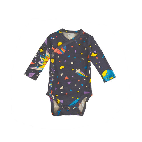 "Merino & Silk Kimono Bodysuit - ""Little Big Bang"""