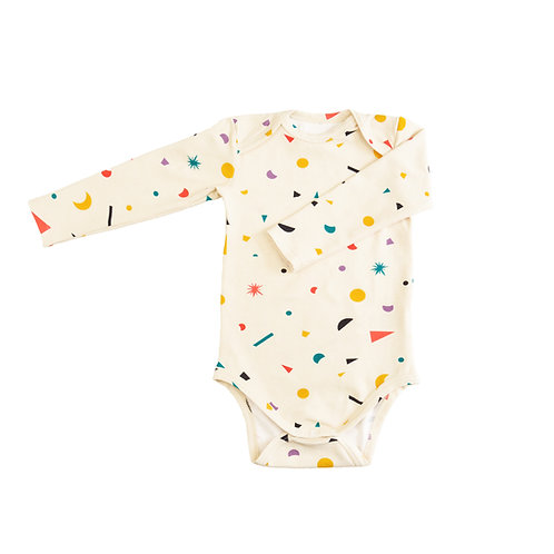 """Little big bang"" Organic cotton bodysuit"