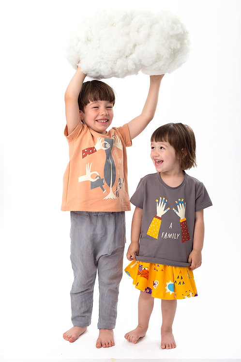 """A family"" illustrated t-shirt, organic cotton"