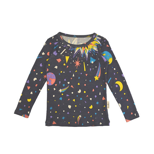 """Little big bang"" Merino wool & silk blouse"