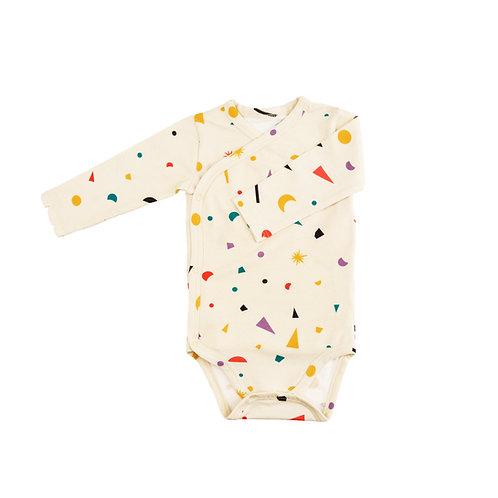 """""""Little big bang"""" Kimono long-sleeve bodysuit"""