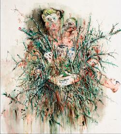 王荣植 抱树 No.2 布面油画 200x150cm 2010