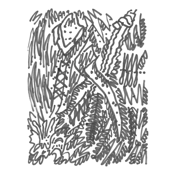 Maken X 13, Marker on paper card, Beijng, 2019
