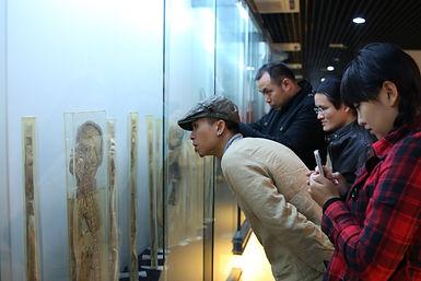 第八日艺术家访问科学家巫术说(第三季)人体网络,图为参观广州第一军医大学人体标本