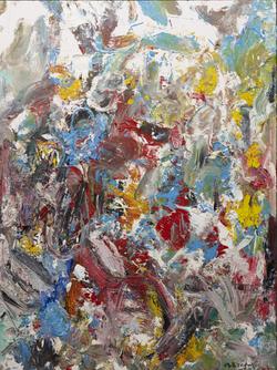 抽象作品s57_2017布面油画. 180x240