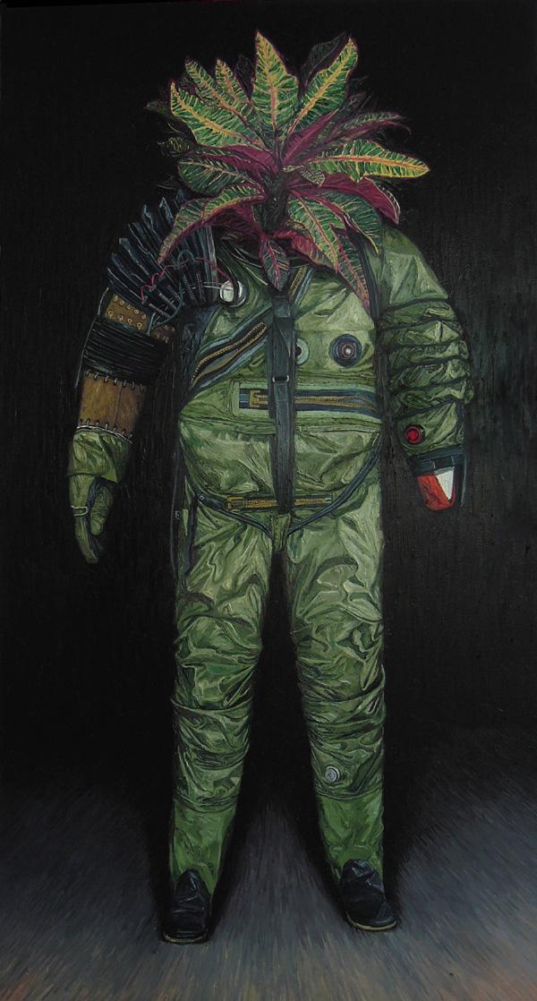 《荒梦狂想系列No.4》 布面油画 190x100cm 2012