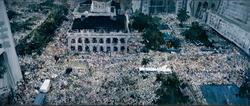 广场 香港 布面丙烯 600X250cm 2009