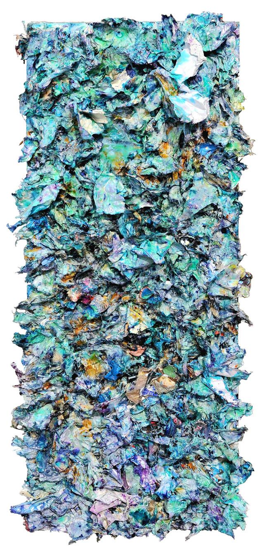 Navras 木板裱纸..丙烯.媒介剂. 34cmX82cm 2012