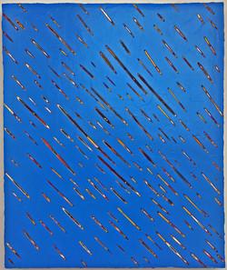 《绘画74—雨》木板丙烯 50x60cm、2018