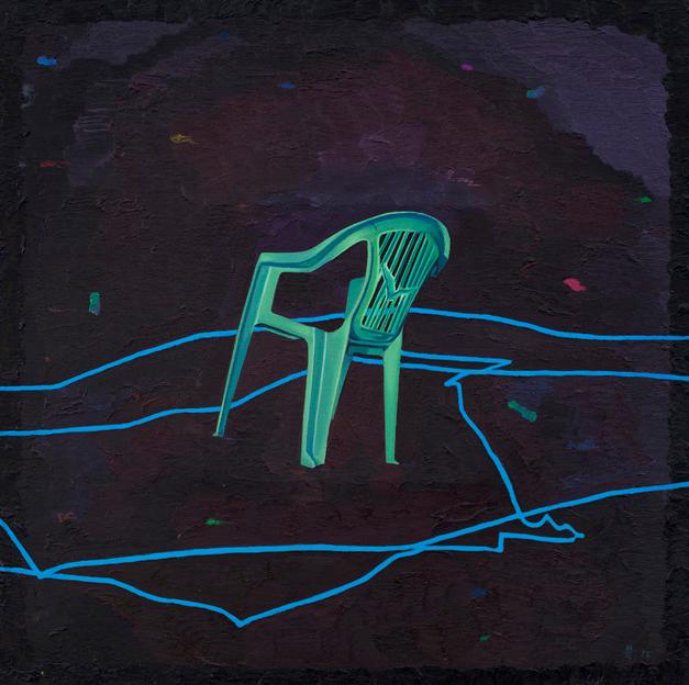 绿色椅子 布面油画 100x100cm 2012