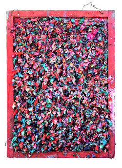 新娘 木框裱纸,丙烯,媒介剂,油画. 60cmX84cm 201