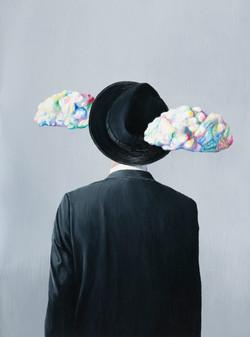 马格利特的云 布面油画 115x85cm 2015 Magrritte's Cl