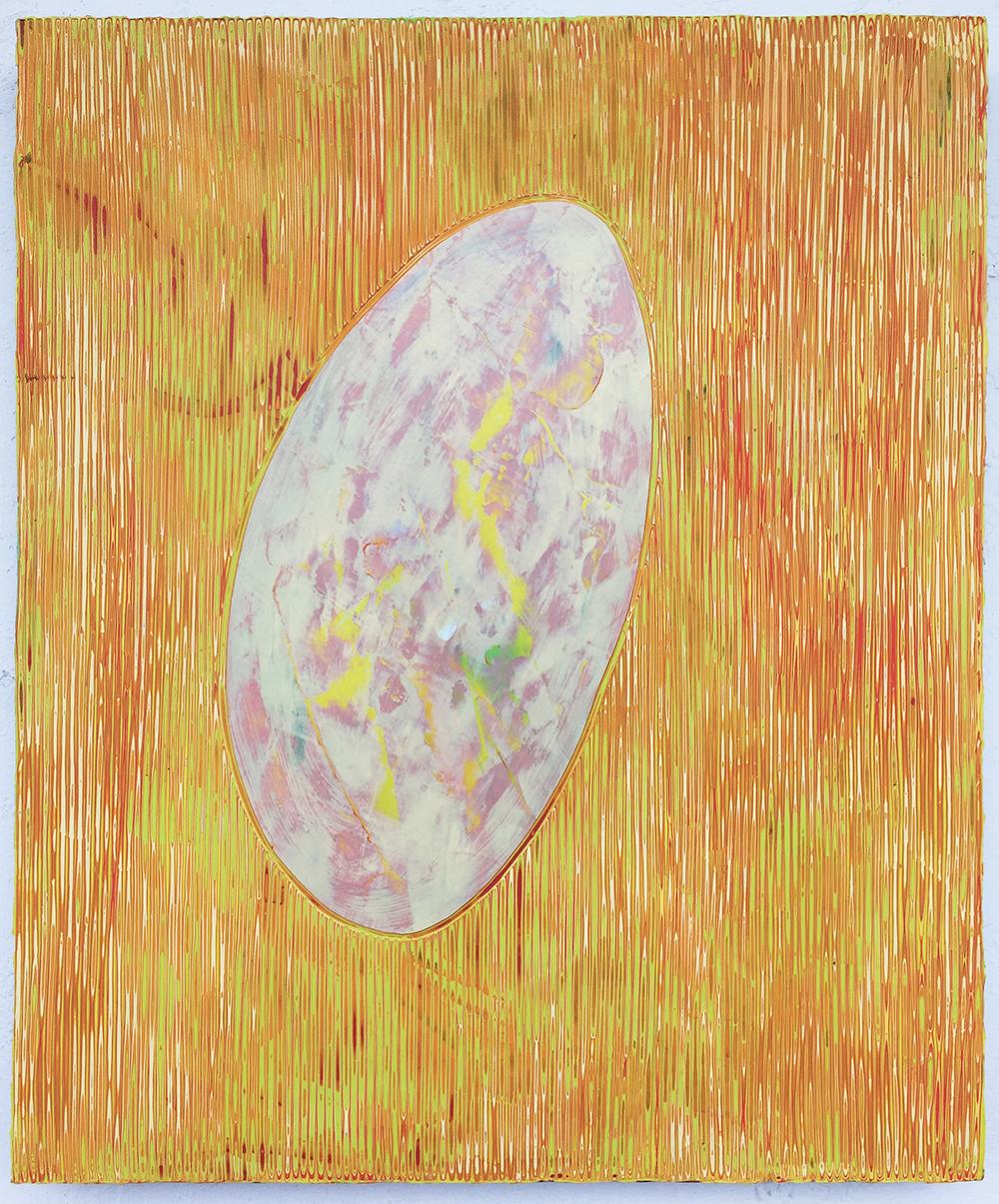 《绘画105—鹅卵石》木板丙烯50x60cm