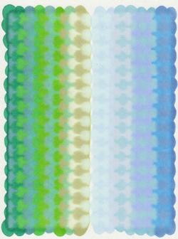 蔚蓝的海碧绿的浪c 纸上马克笔 28x32cm 2012