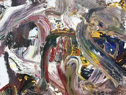 《2017抽象作品s37号》. 尺寸: 80x60cm材料:布上油画.